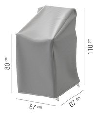 AquaShield beschermhoes voor stapelstoelen polyester D 67 x B 67 x H 110 cm-Artikeldetail