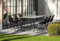 Ocean table de jardin Ely Charcoal L 220 x Lg 100 cm-Image 3