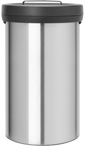 Brabantia poubelle Big Bin 60 l acier mat FPP-Avant