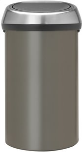 Brabantia poubelle Touch Bin 60 l platinum
