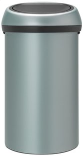 Brabantia afvalemmer Touch Bin 60 l metallic mint