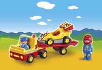 Playmobil 1.2.3 6761 Racewagen met takelwagen