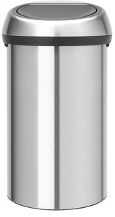 Brabantia afvalemmer Touch Bin 60 l mat staal FPP-Vooraanzicht