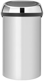 Brabantia Afvalemmer Touch Bin metallic grey 60 l
