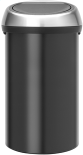Brabantia afvalemmer Touch Bin 60 l mat zwart-Vooraanzicht
