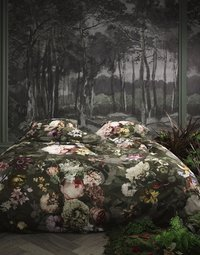 Essenza Dekbedovertrek Fleurel brushed katoen olive 240 x 220 cm-Afbeelding 1