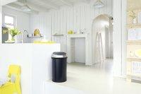 Brabantia poubelle Touch Bin 60 l noir mat-Image 1