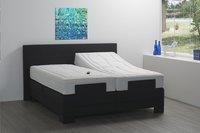 Boxspring électrique Arvika tissu d'ameublement noir 160 x 200 cm-Image 2
