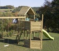 BnB Wood portique Nieuwpoort Pirate avec toboggan vert pomme-Image 1