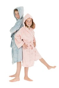 Tiseco Home Studio Robe de chambre Kids soft blue 12-14 ans-Image 3