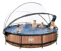 EXIT piscine Wood avec coupole Ø 3,60 m-Image 1