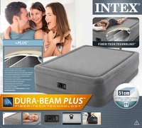 Intex Luchtmatras voor 2 personen Intex Queen Dura-Beam Foam Top grijs-Vooraanzicht