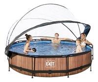 EXIT piscine Wood avec coupole Ø 3,60 m-Image 2