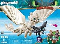 PLAYMOBIL Dragons 70038 Furie Éclair et bébé dragon avec les enfants-Avant