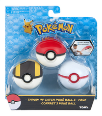 Tomy set Pokémon Throw 'n' Catch Poké Ball - 3pack