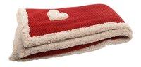 Plaid avec coeur Lg 130 x L 150 cm rouge