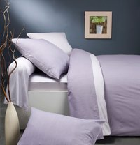 Origin dekbedovertrek Ecorce violet bamboe 240 x 220 cm