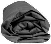 Sleepnight drap-housse gris foncé en coton 160 x 200 cm-Détail de l'article