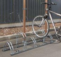Mottez râtelier à vélos pour 5 vélos haut/bas-Image 2