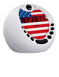iCES wekkerradio met projectie USA ICRP-212-Linkerzijde
