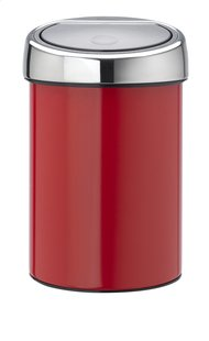 Brabantia Afvalemmer Touch Bin passion red 3 l