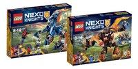 LEGO Nexo Knights 70312 Lance's Mecha Paard + 70325 Infernox neemt koningin gevangen