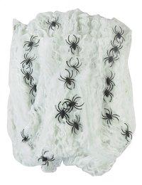 Spinnenweb met 25 spinnen wit-Vooraanzicht