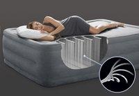 Intex Matelas gonflable pour 2 personnes Queen Dura-Beam Plush gris-Image 1