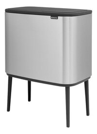 Brabantia Afvalemmer Touch Bin Bo matt steel fingerprint proof 11 l + 23 l-Rechterzijde