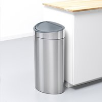Brabantia Afvalemmer Touch Bin Recycle matt steel 10/23 l
