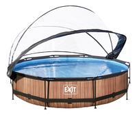 EXIT piscine Wood avec coupole Ø 3,60 m-Détail de l'article