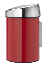 Brabantia Afvalemmer Touch Bin passion red 3 l-Rechterzijde