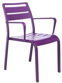 Chaise de jardin Nice mauve