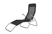 Chaise longue Lazy Lounger Siesta Beach noir