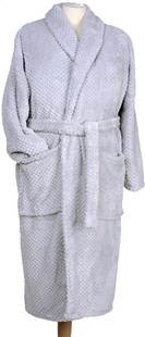 Jules Clarysse Robe de chambre Poho gris XL/XXL-commercieel beeld