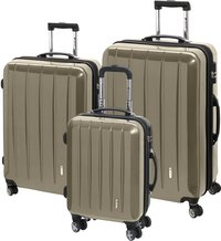 Check.In Harde trolleyset London Special Spinner champagne