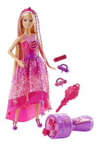 Barbie set de jeu  Endless Hair Kingdom Snap 'N Style-commercieel beeld