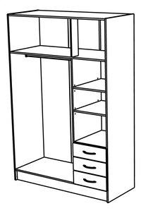 Demeyere Meubles Garde-robe 6 portes et 3 tiroirs Magnum décor chêne-Détail de l'article