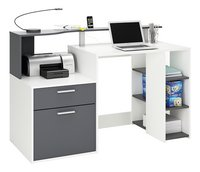 Bureau Oracle B 140 cm blanc/anthracite