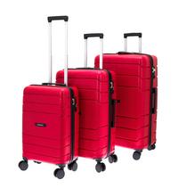 Davidt's set de 3 valises rigides Camino rouge-Côté droit