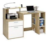 Bureau Oracle B 140 cm décor chêne/blanc-Avant