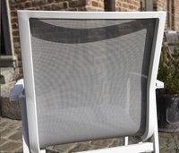 Chaise de jardin Bondi gris clair/blanc-Arrière