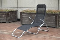 Chaise longue Lazy Lounger Siesta Beach noir-Image 1