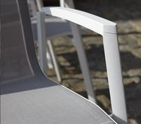 Chaise de jardin Bondi gris clair/blanc-Détail de l'article