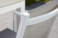Chaise de jardin Forios gris clair/blanc-Image 1