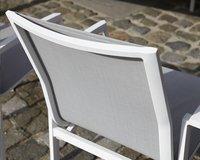 Chaise de jardin Bondi gris clair/blanc-Image 1