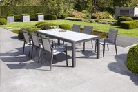 Jati & Kebon table à rallonge Livorno gris clair/anthracite 220 x 106 cm-Image 4