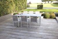 Jati & Kebon verlengbare tuintafel Livorno lichtgrijs/wit 220 x 106 cm-Afbeelding 2