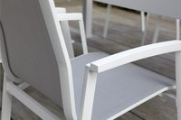 Chaise de jardin Bondi gris clair/blanc-Image 2