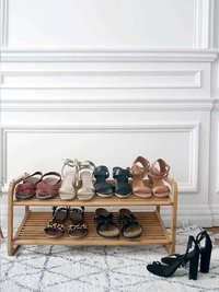 Compactor Range-chaussures Bamboo bois clair 8 paires de chaussures-Image 1
